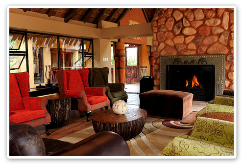 Lounge Fire Place Ivory Tree Game Lodge Malaria Free Big Five Pilanesberg Game Reserve Accommodation Booking