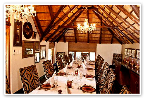 Dining Room Tshukudu Bush Lodge Malaria Free Big Five Pilanesberg Game Reserve Accommodation Booking